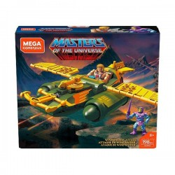 Masters of the Universe jeu de construction Mega Construx Probuilder Attaque du Wind Raider Mattel Les Maitres De L'univers