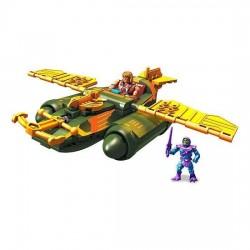 Masters of the Universe jeu de construction Mega Construx Probuilder Attaque du Wind Raider Mattel Les Maitres De L'univers