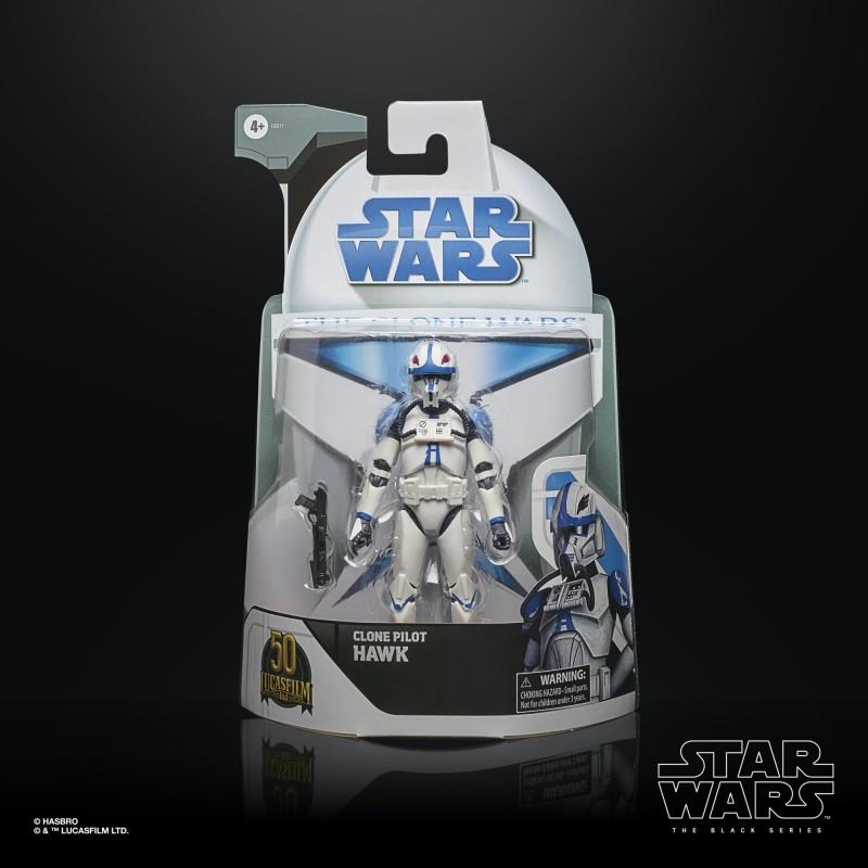 Figurine Star Wars Black Series TCW Clone Pilot Hawk 15cm