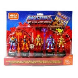 Masters of the Universe pack 5 figurines Mega Construx Probuilder Bataille pour Eternia