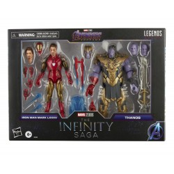 Marvel Legends The Infinity Serie Avengers Endgame Iron Man Mark LXXXV & Thanos 15cm