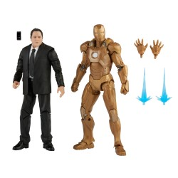 Figurine Marvel Legends The Infinity Series Saga Happy Hogan & Iron Man Mark XXI