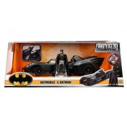Batman 1/24 1989 Batmobile métal avec figurine