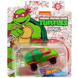 Hot Wheels Voiture 1/64 Les Tortues Ninja Michelangelo