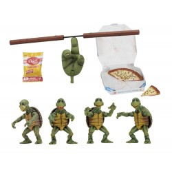 Les Tortues ninja pack 4 figurines 1/4 Baby Turtles 10 cm Neca Les Tortues Ninja