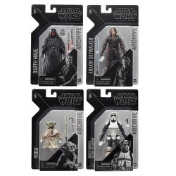 Star Wars Bklack Series Archive Wave 2 Darth Maul, Anakin , Yoda & Biker scoot