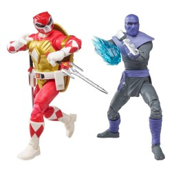 Power Rangers x TMNT Lightning Collection figurines 2022 Foot Soldier Tommy & Morphed Raphael