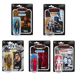 Star Wars Vintage Collection Wave 6 Lando,Phasma,Chewbacca,Praetorian Guard & Stormtrooper