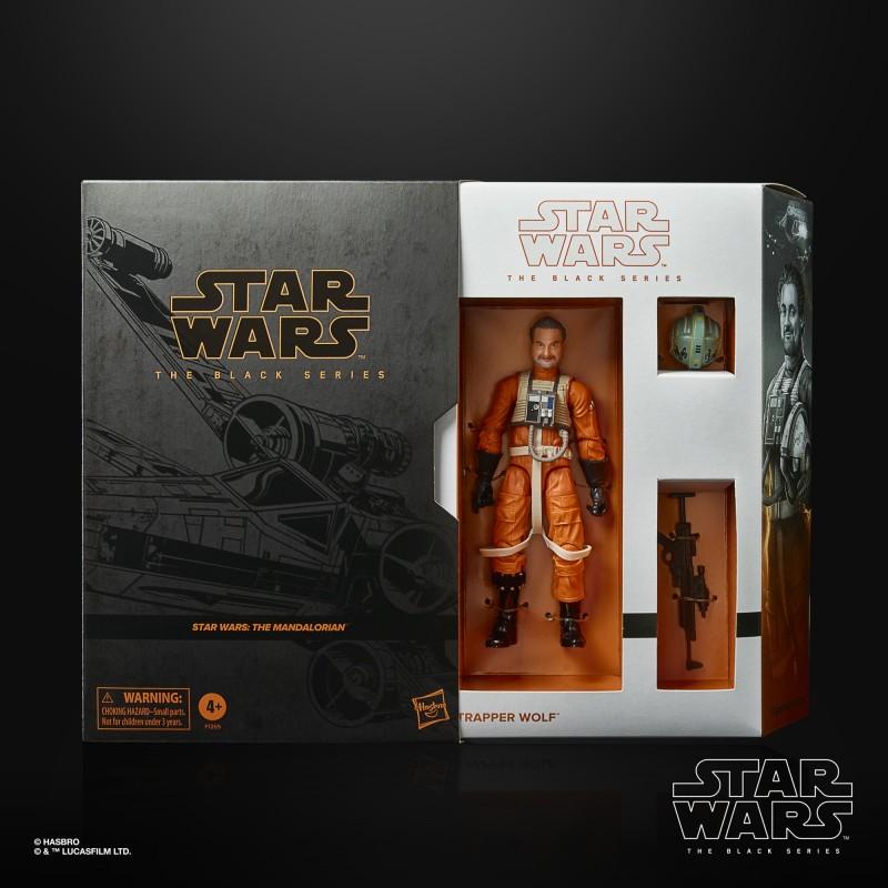 SDCC 2021 Figurine Star Wars Black Series Mandalorian Trapper Wolf