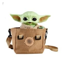 Star Wars The Mandalorian peluche électronique avec sac à bandoulière The Child 28 cm