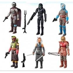 Star Wars The Mandalorian Retro Collection Wave 2 figurine 2022  Set De 6 Figurines