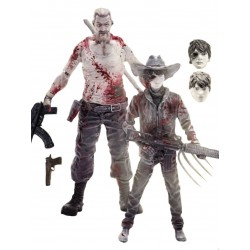 The Walking Dead pack 2 figurines Abraham Ford & Carl Grimes Previews Exclusive 15 cm