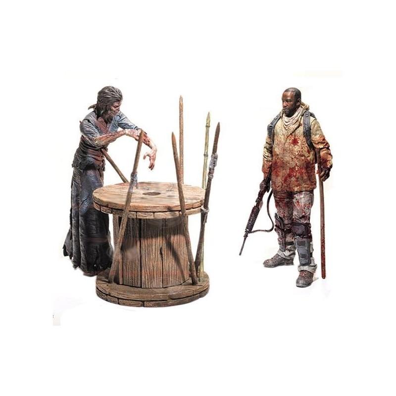 The Walking Dead TV Version Deluxe Box pack 2 figurines Morgan & Walker 13 cm Serie 8