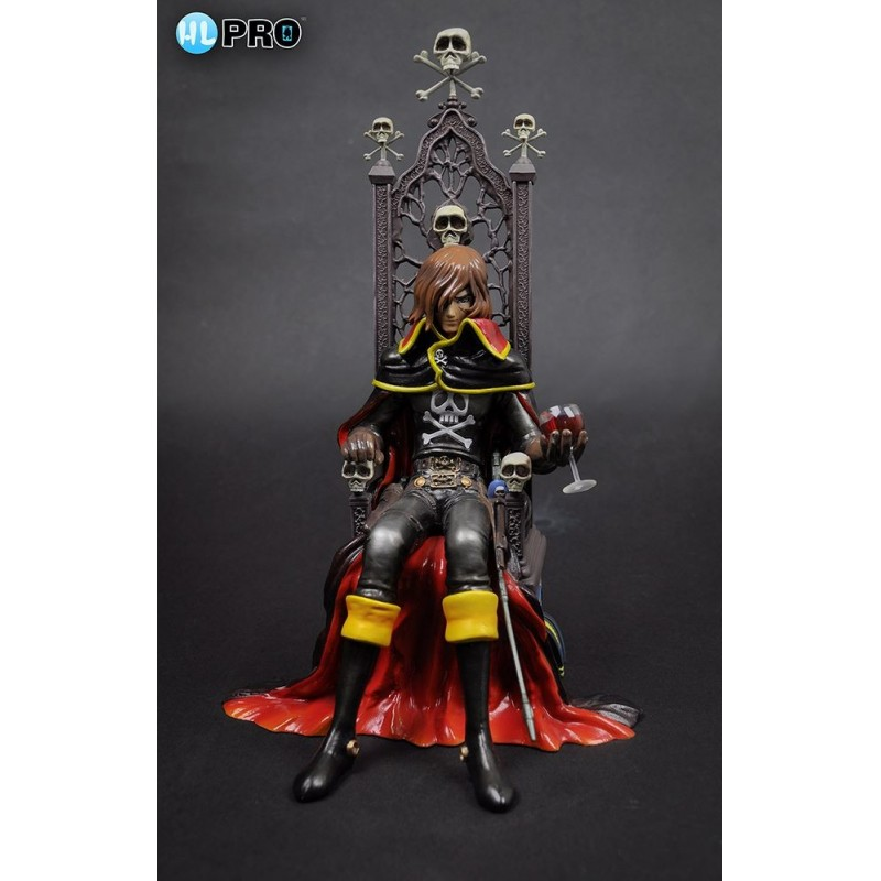 Albator Captain Harlock on Throne pvc Statue