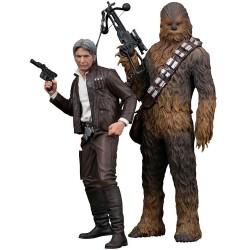 Star Wars Episode VII pack 2 statuettes 1/10 PVC ARTFX+ Han Solo & Chewbacca 20 - 23 cm