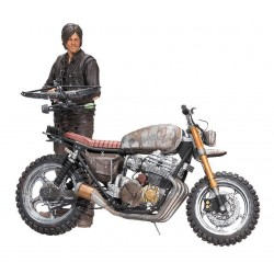 The Walking Dead figurine Deluxe Daryl Dixon avec Chopper Season 5/6 13 cm