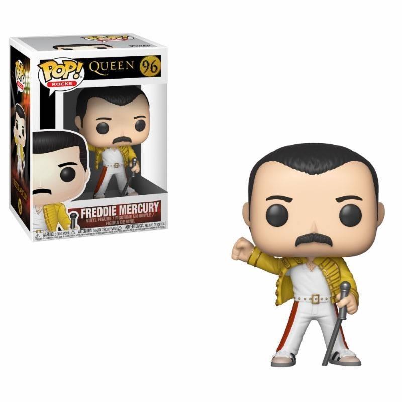 Queen POP! Rocks Vinyl Figurine Freddie Mercury Wembley 1986 9 cm Funko Musique