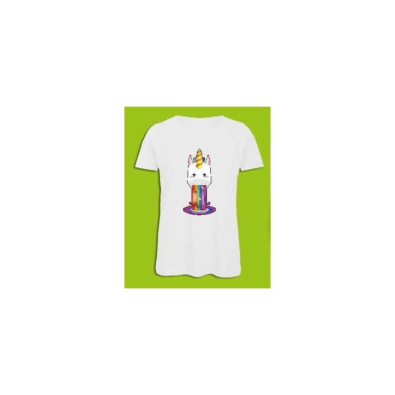 Sickawai T-shirt Femme Licorne Blanc Sickawai Le Coin Des Goodies