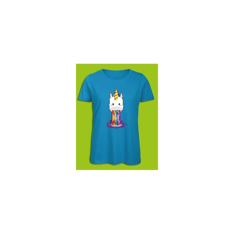 Sickawai T-shirt Femme Licorne Bleu