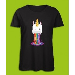 Sickawai T-shirt Femme Licorne Noir Sickawai Le Coin Des Goodies