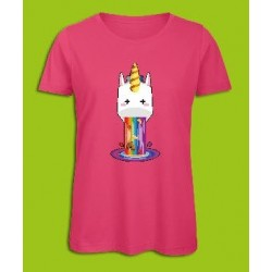 Sickawai T-shirt Femme Licorne Rose Sickawai Le Coin Des Goodies