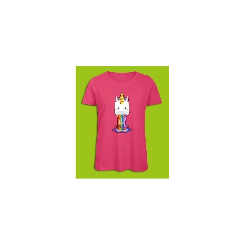 Sickawai T-shirt Femme Licorne Rose Sickawai Le Coin Des Goodies