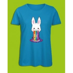 Sickawai T-shirt Femme Lapin Bleu Sickawai Le Coin Des Goodies