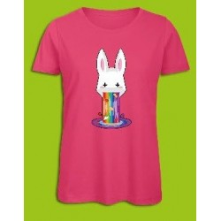 Sickawai T-shirt Femme Lapin Rose Sickawai Le Coin Des Goodies