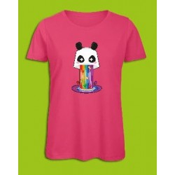 Sickawai T-shirt Femme Panda Rose Sickawai Le Coin Des Goodies