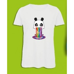 Sickawai T-shirt Femme Panda Blanc Sickawai Le Coin Des Goodies