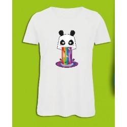 Sickawai T-shirt Femme Panda Blanc Sickawai Le Coin Des Goodies