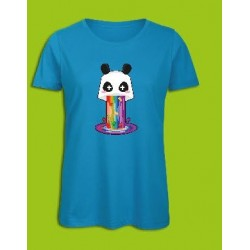 Sickawai T-shirt Femme Panda Bleu Sickawai Le Coin Des Goodies