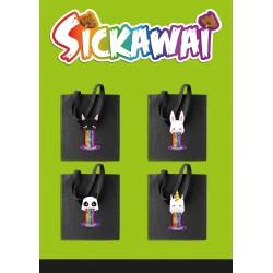 Sac Shopping Sickawai modèle & coloris aux choix Licorne,chat,panda & Lapin