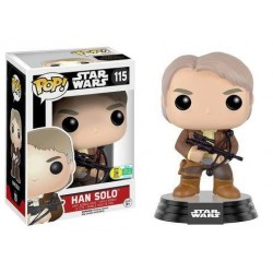Star Wars Episode VII POP! Vinyl Bobble Head Han Solo Chewie Bowcaster SDCC 2016 Exclusive 9 cm