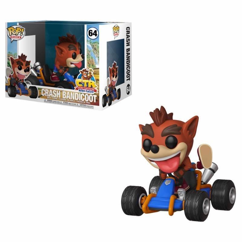 Crash Team Racing POP! Rides Vinyl figurine Crash Bandicoot 15 cm