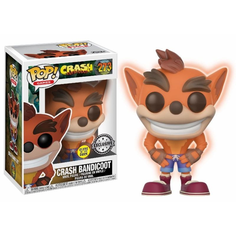 Crash Bandicoot Figurine POP! Games Vinyl Crash Bandicoot GITD 9 cm
