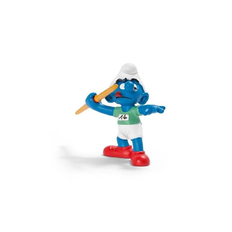 Les Schtroumpfs Figurine Schleich 20744 Lanceur De Javelot