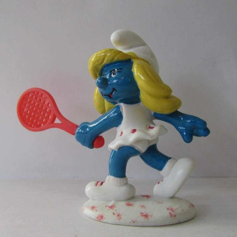 Les Schtroumpfs Figurine Schleich 20135 Schtroupfette Tennis