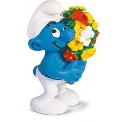 Les Schtroumpfs Figurine Schleich 20469 Bouquet De Fleurs