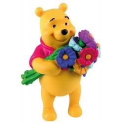 Figurine Disney Bullyland 12342 Winnie & Bouquet De Fleurs