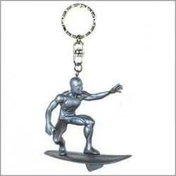 Marvel Demons & Merveille Porte clés 3D Surfeur D'argent