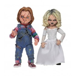 La Fiancée de Chucky pack 2 figurines Ultimate Chucky & Tiffany 10 cm