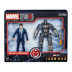Iron Man Marvel Legends Series pack 2 figurines Tony Stark & Iron Man Mark I 15 cm