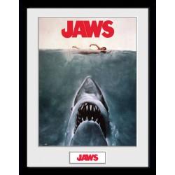 Les Dents de la mer poster encadré Key Art 45 x 34 cm