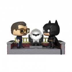 Batman's 80th POP! Movie Moment Vinyl figurine Batman with Light Up Bat Signal 9 cm