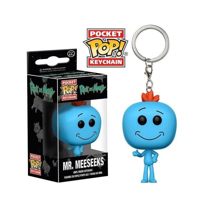 Rick et Morty porte-clés Pocket POP! Vinyl Mr. Meeseeks 4 cm