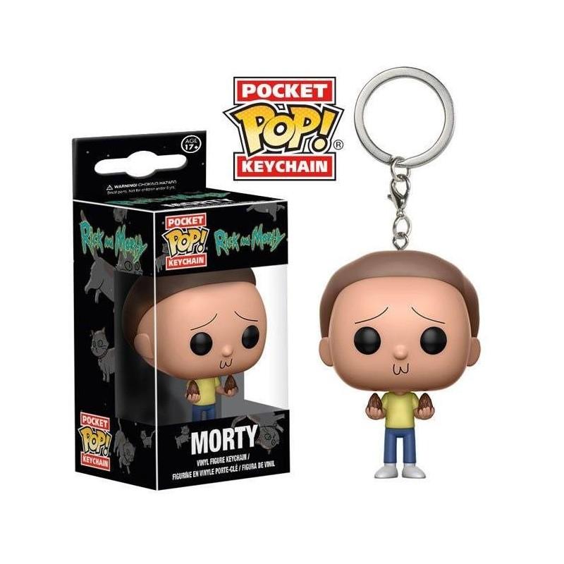 Rick et Morty porte-clés Pocket POP! Vinyl Morty 4 cm