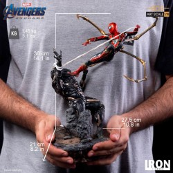 Avengers : Endgame statuette BDS Art Scale 1/10 Iron Spider vs Outrider 36 cm