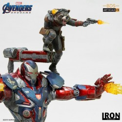 Avengers : Endgame statuette BDS Art Scale 1/10 Iron Patriot & Rocket 28 cm