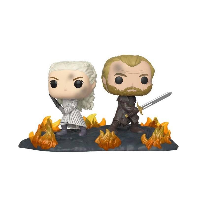 Game of Thrones pack 2 POP Moment! Vinyl figurines Daenerys & Jorah 9 cm